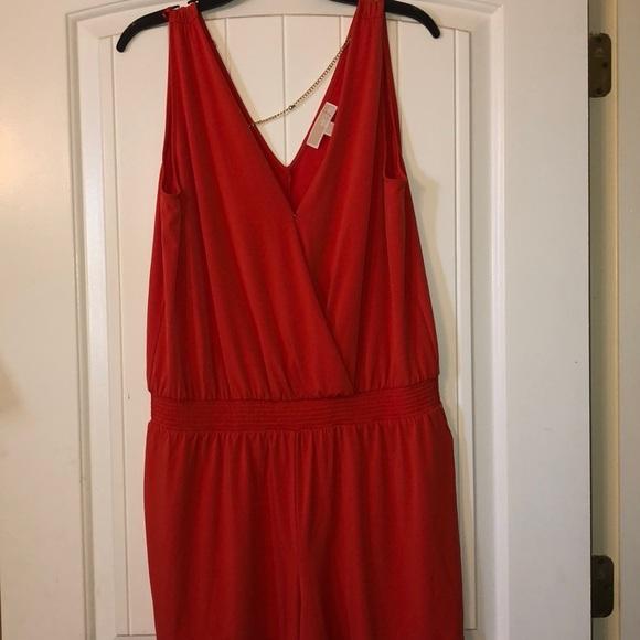 Michael Kors Dresses & Skirts - Michael Kors Orange Romper Size L